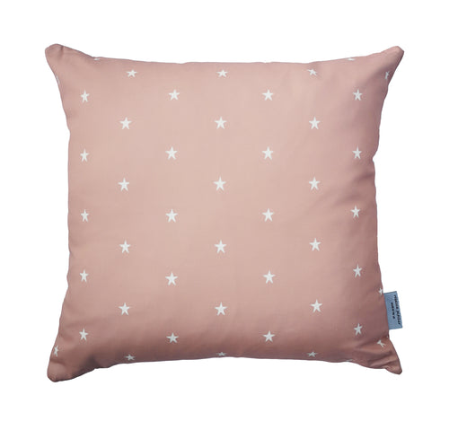 dusky pink and white star cushion