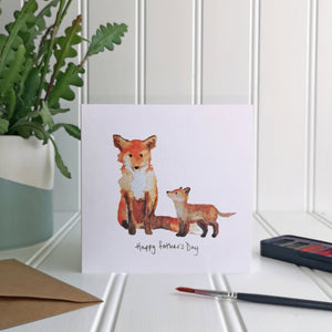 Father's Day Fox Card