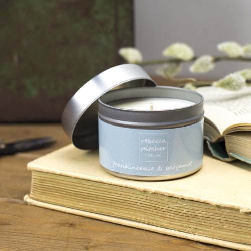 Frankincense & Bergamot Tin Candle
