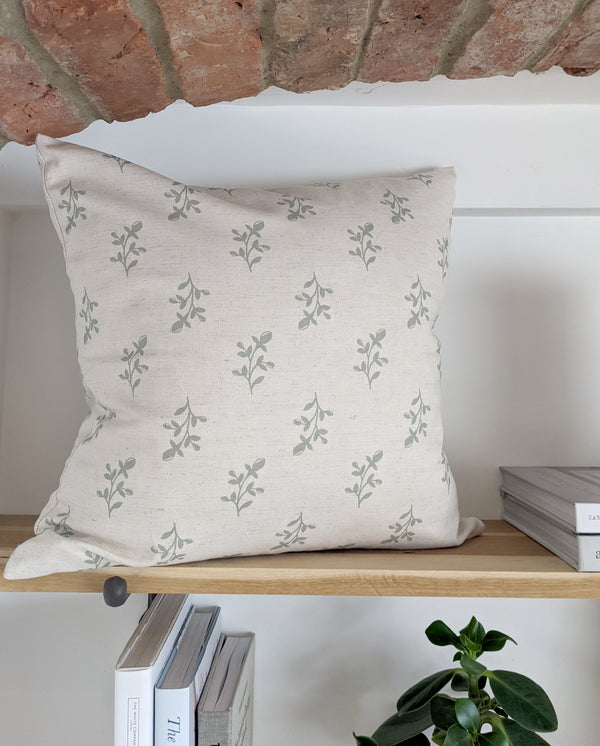 Frosty Green Linen Maisie Cushion