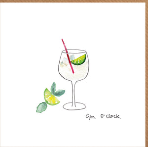 Gin o'clock Card
