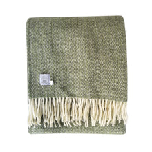 Grey Green Wool Throw