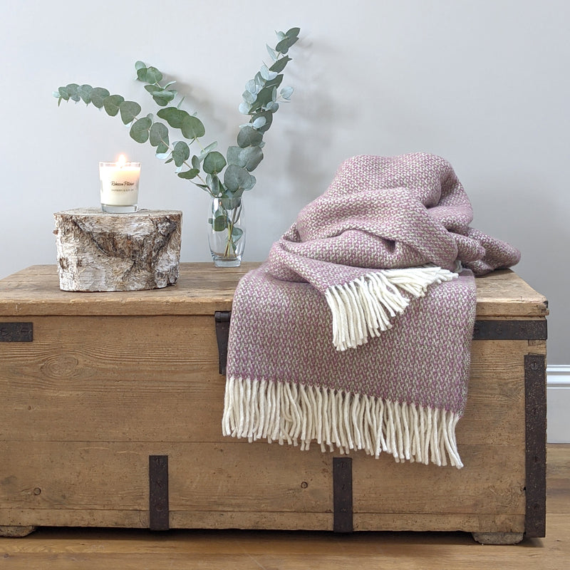 Heather Wool Throw