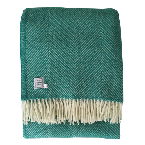 Large Peacock Wool Throw