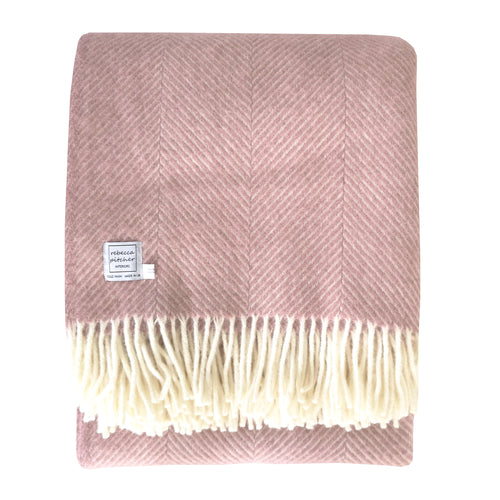 Large Pink Wool Throw