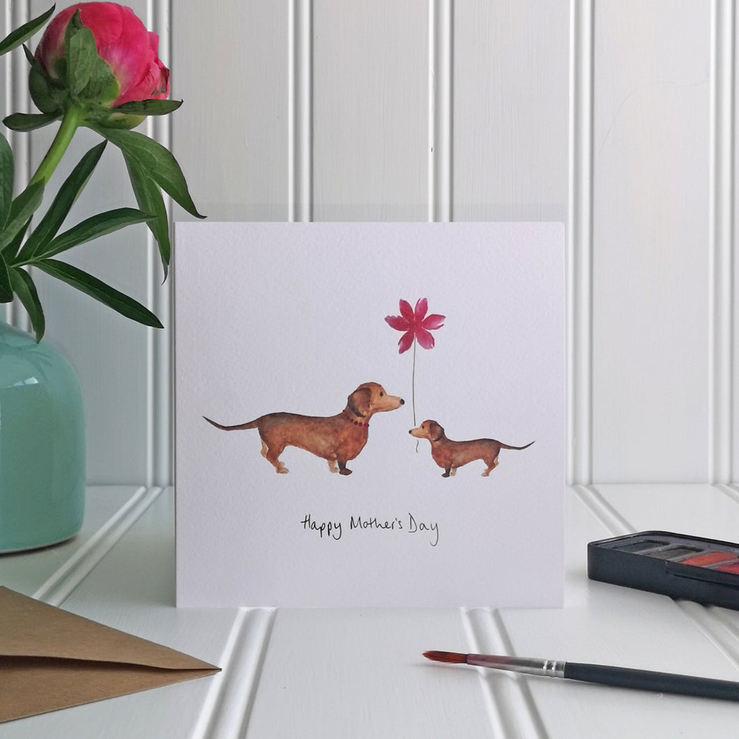 Mother's Day Sausage Dog Card