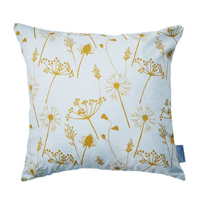 mustard meadow flower cushion