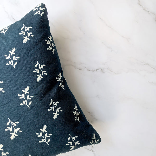 Navy Maisie Cushion