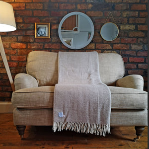 Oatmeal Wool Throw