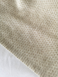 natural oatmeal cream wool throw blanket