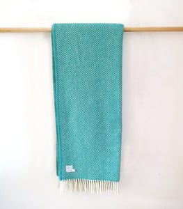Peacock Wool Throw