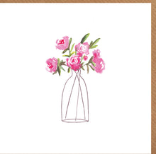 Load image into Gallery viewer, Pink Peonies Blank Card