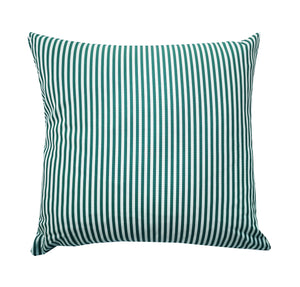 petrol blue and white stripe cushion