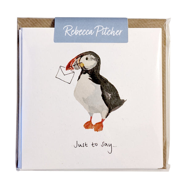 Puffin 'Just to Say' Notecards - 8 cards with envelopes