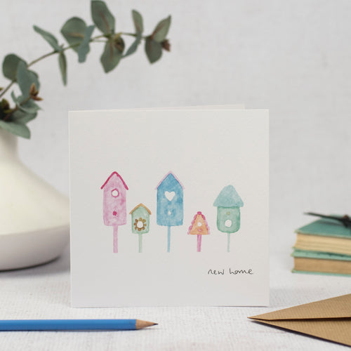 Bird Houses New Home Card