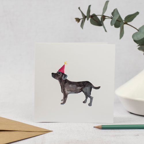 Black labrador card