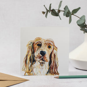 Golden Cocker Spaniel Card