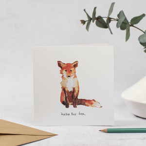 Hello Mr Fox Blank Card