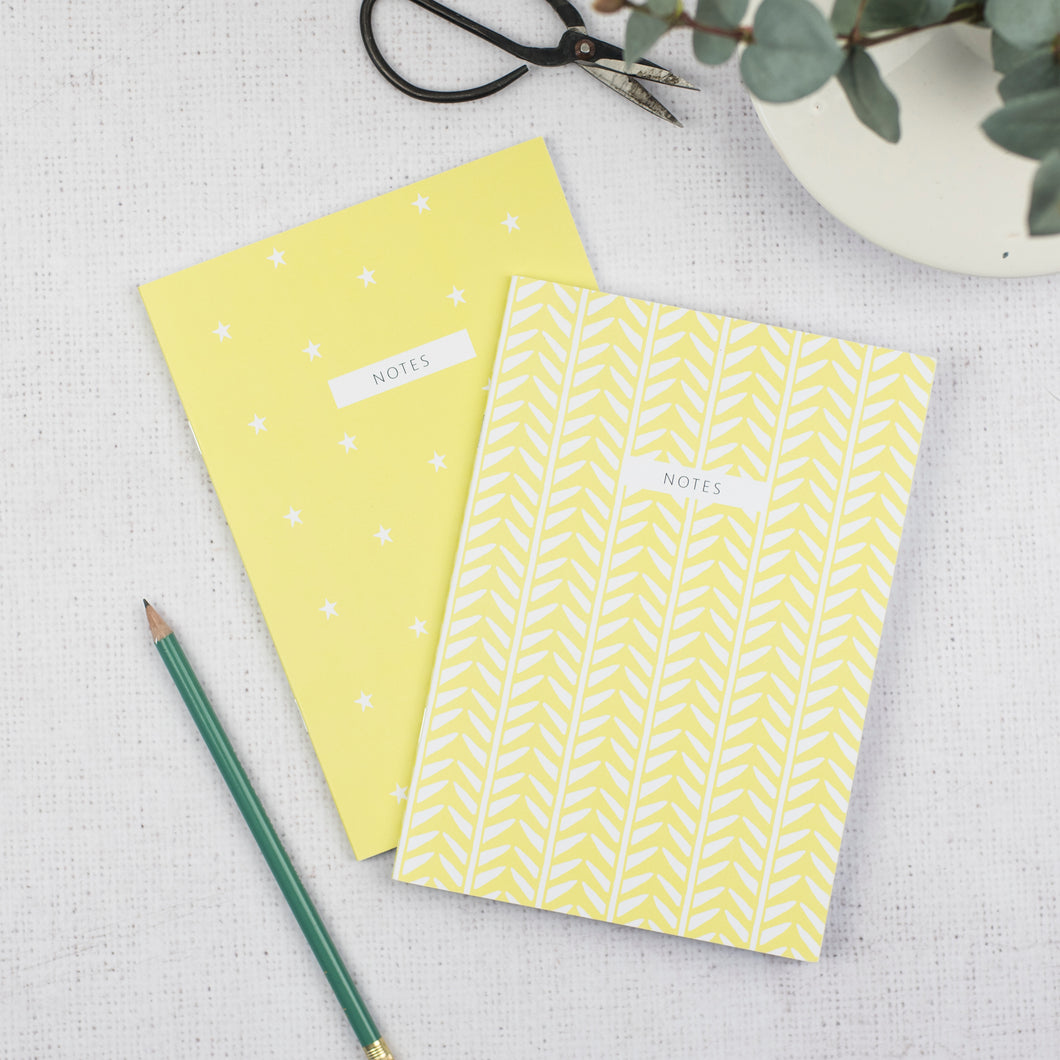 Yellow A5 Notebooks