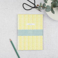 Load image into Gallery viewer, Set of 2 A5 Notebooks - Yellow