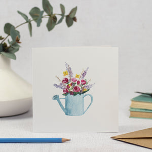 Watering Can and Flowers Card