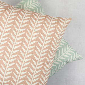 dusky pink and dickegg wishbone cushions