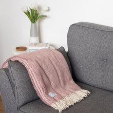 Dusky Pink Wool Throw Blanket