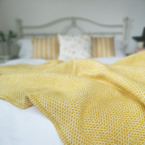 Yellow Wool Throw
