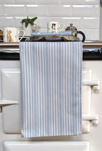 Load image into Gallery viewer, Salt Stripe Blue Tea Towel