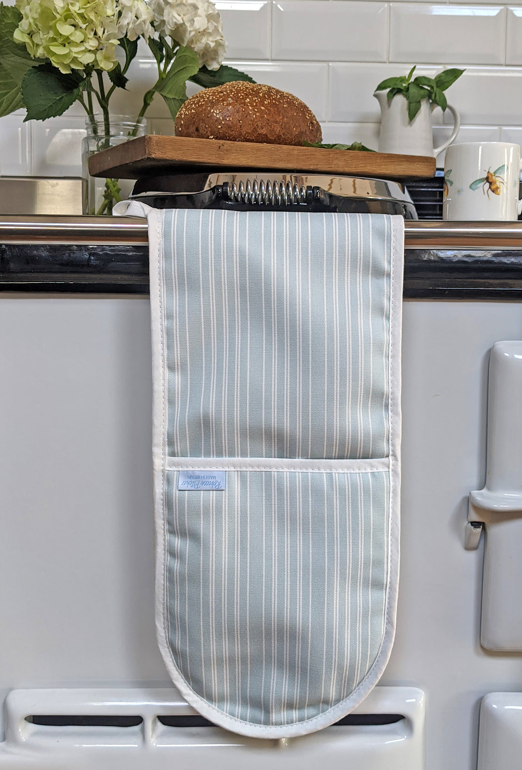 Duckegg Stripe Double Oven Glove