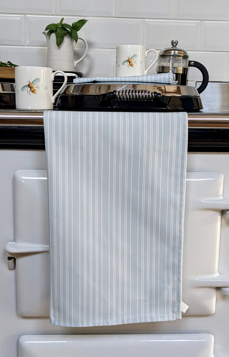 Duckegg Blue Stripe Tea Towel