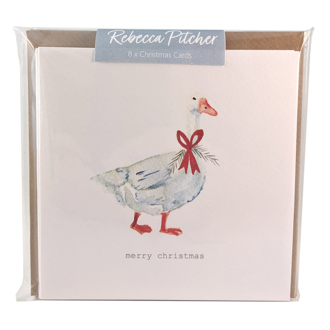 Christmas Card Pack - Goose & Wreath