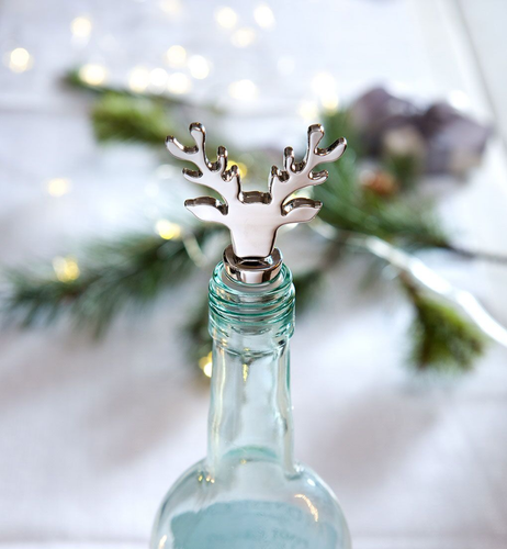 Stag Silver Bottle Stopper
