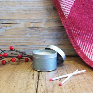 Snowberry Tin Candle