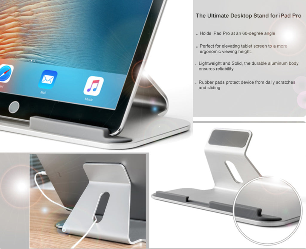 Perfect surfaces product display - Made Of A Single Sturdy Piece Of Aluminum The Stand Transforms Tablet Into Stunning Desktop Counterparts Of The Ipad Pro Surface Pro And Other 7 13