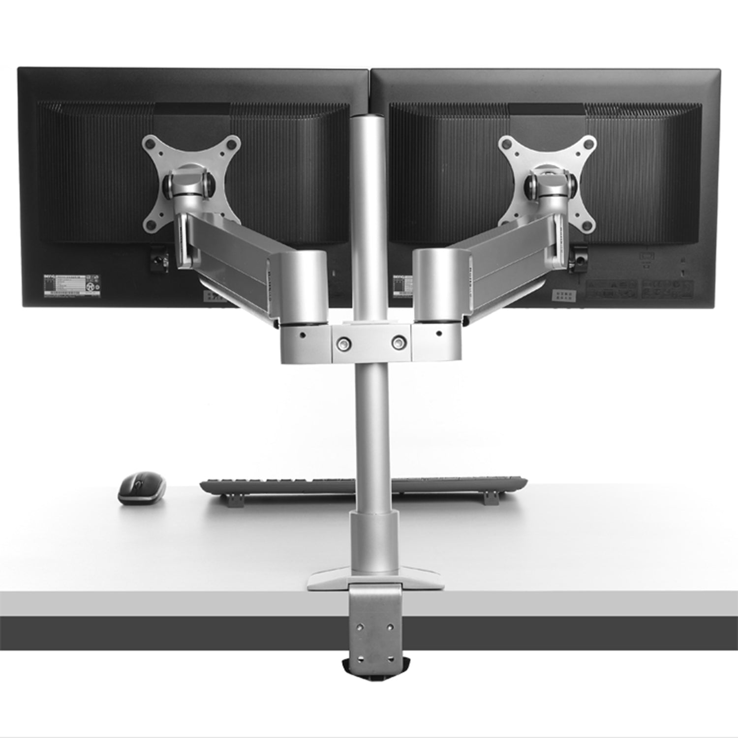 ThingyClub D200 Gas Spring Universal Double Twin LCD LED Desk Mount