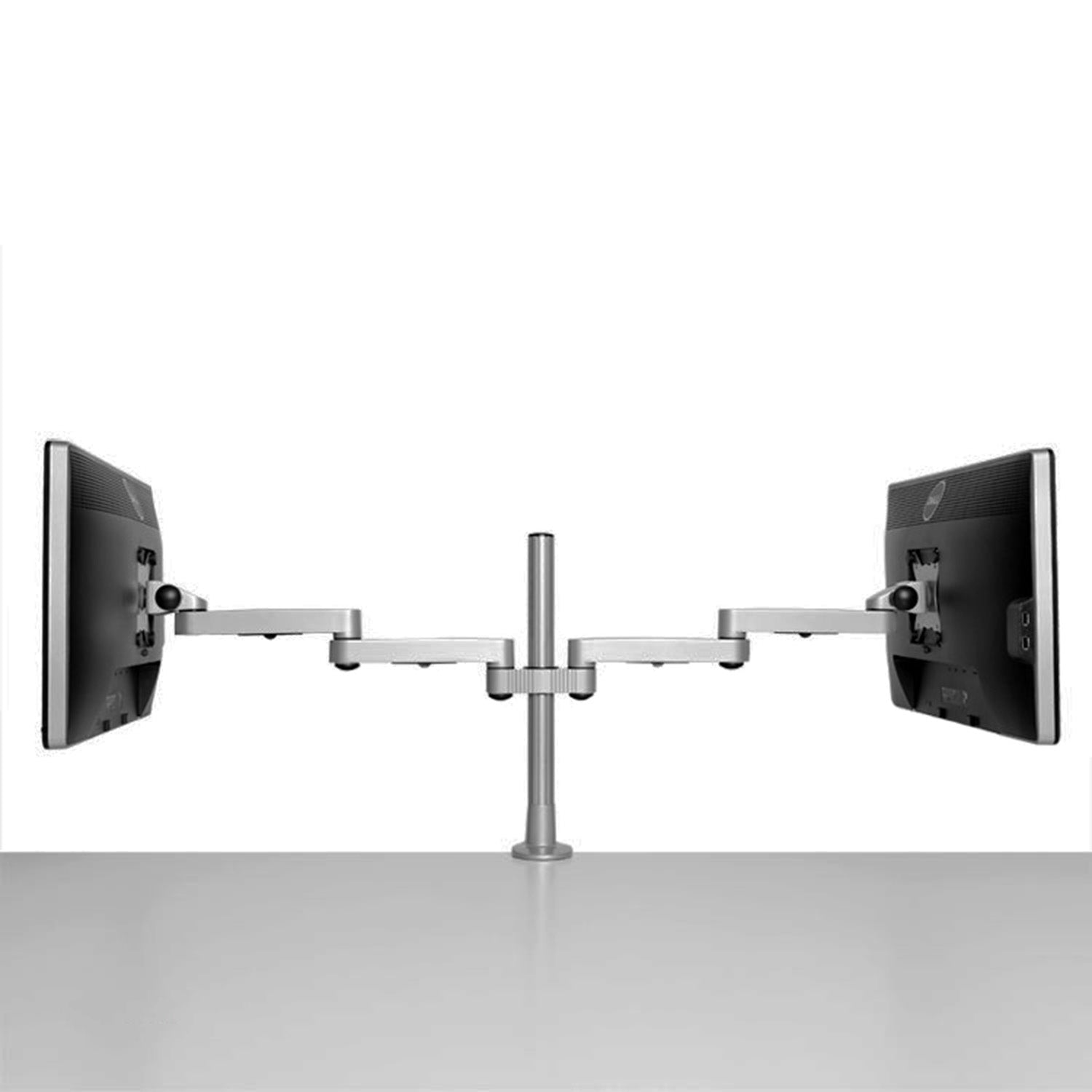 silver ltd monitor mount products gas assisted arm cygnus ceiling cmd