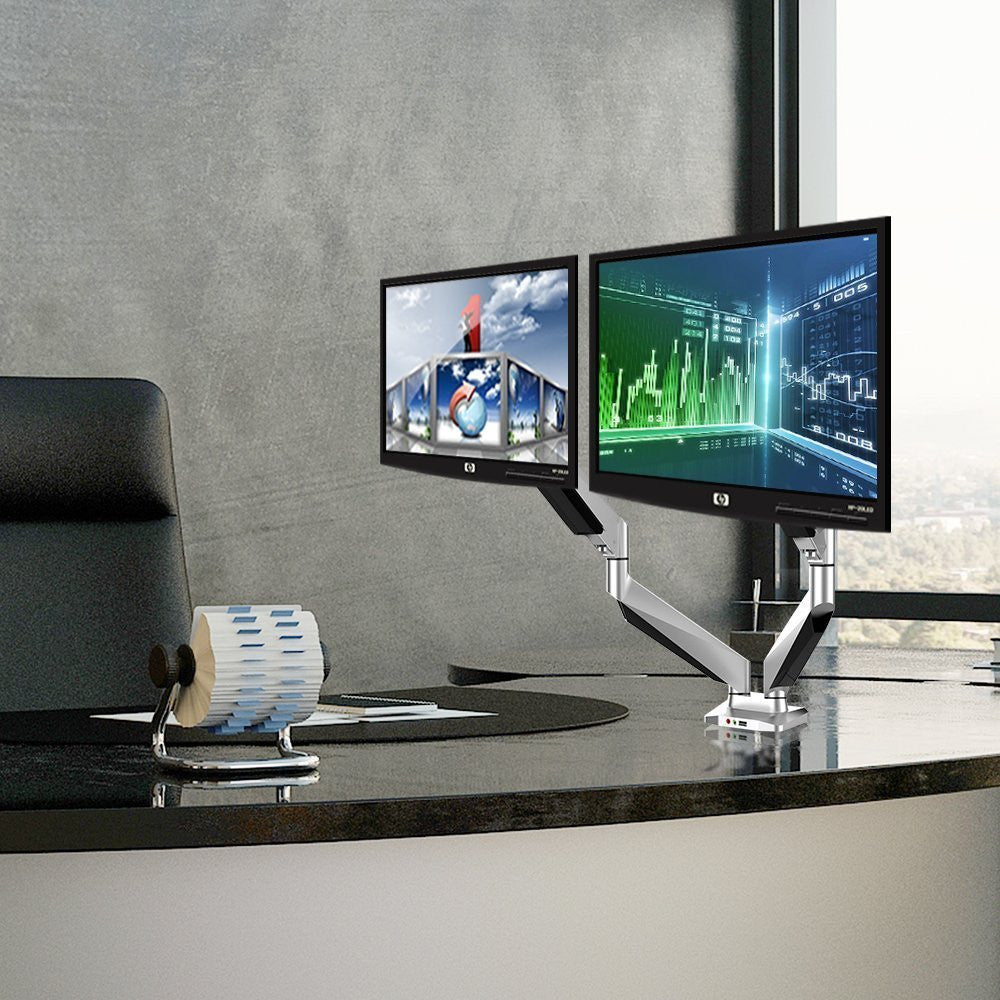 fm adjustable dual monitor desktop mount thingy club