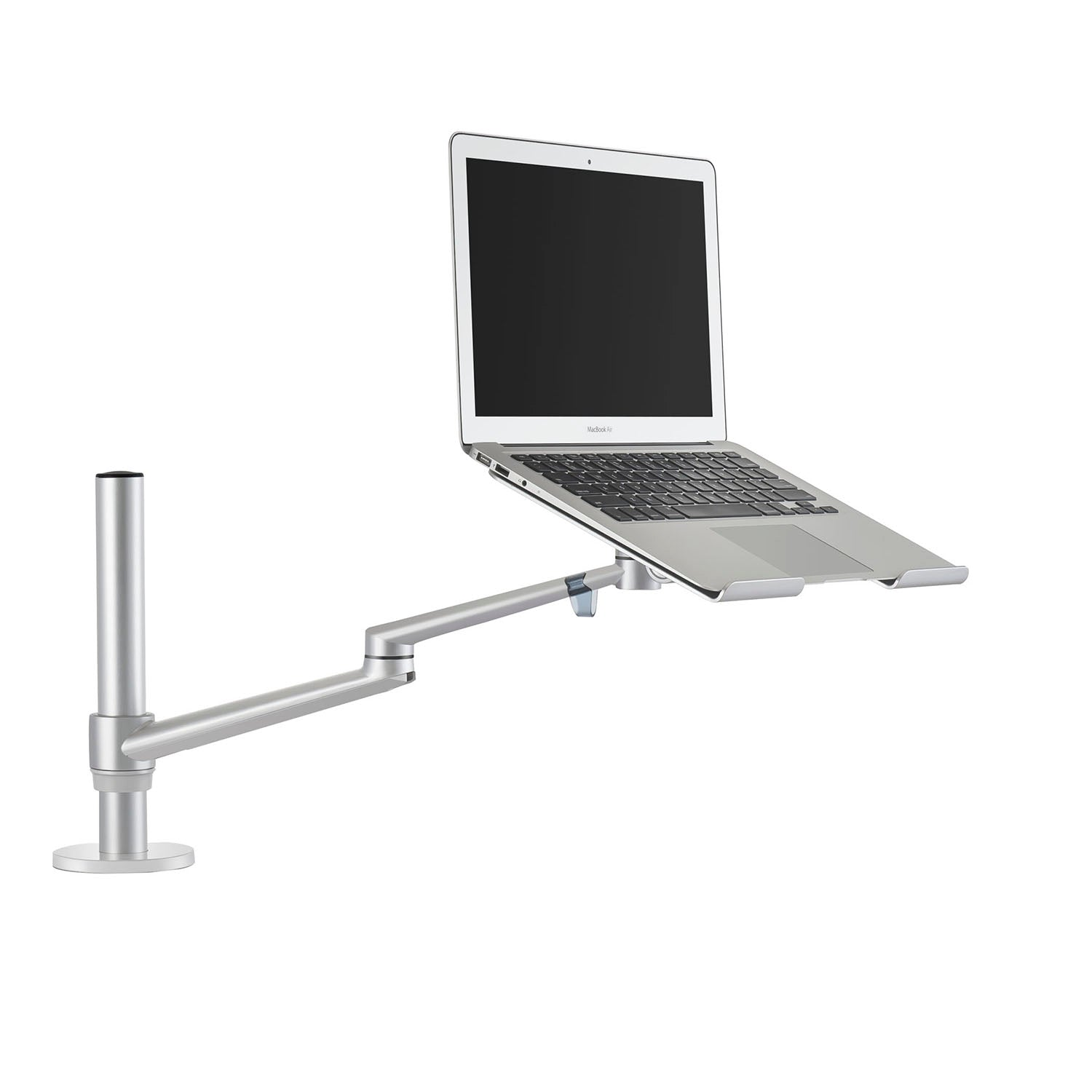 Surprising Thingyclub Adjustable Aluminium Universal 2 In 1 Single Laptop Notebook Or Tablet Desk Mount Arm Stand Bracket With Tilt And Swivel Silver Black Home Interior And Landscaping Synyenasavecom