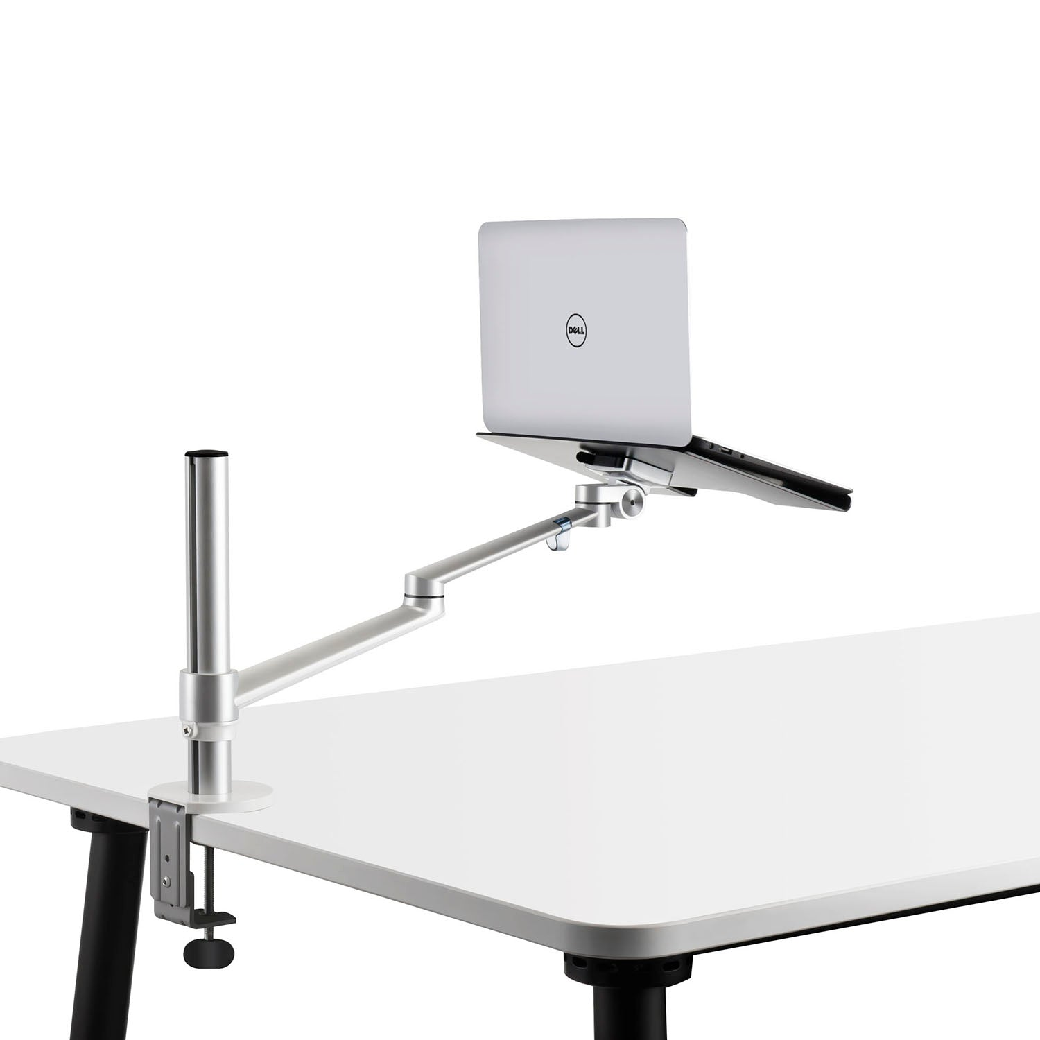 Groovy Thingyclub Adjustable Aluminium Universal 2 In 1 Single Laptop Notebook Or Tablet Desk Mount Arm Stand Bracket With Tilt And Swivel Silver Black Home Interior And Landscaping Synyenasavecom