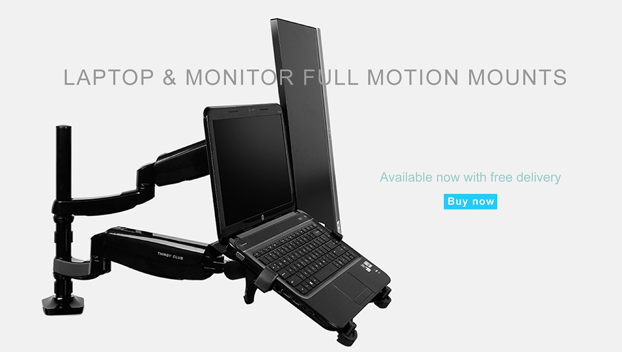 Fabulous Adjustable Laptop Monitor Dual Arm Desk Mount Bracket Home Interior And Landscaping Synyenasavecom