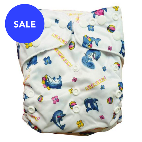 Printed Dolphin Diaper