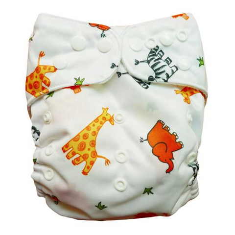 Printed Animal Diaper