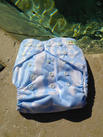 Light Blue Shapes Diaper - Sustain a Living
