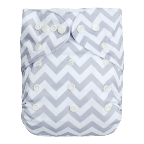 Grey Chevron Diaper