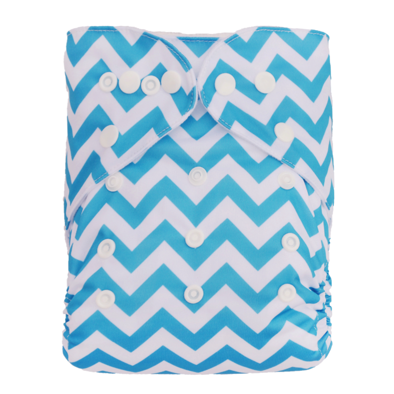 Blue Chevron Diaper - Sustain a Living