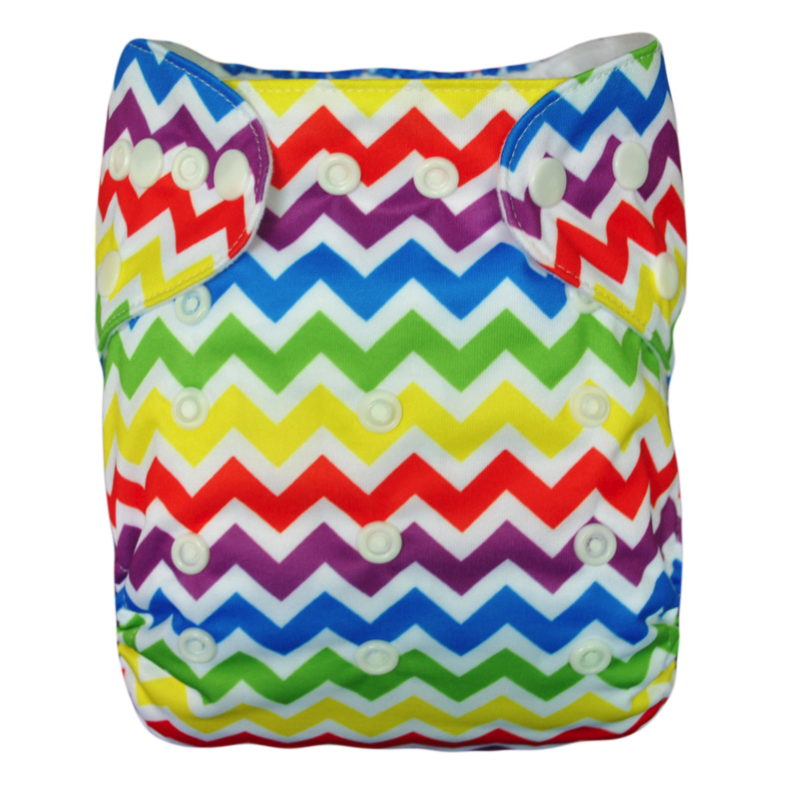 Rainbow Chevron Diaper - Sustain a Living