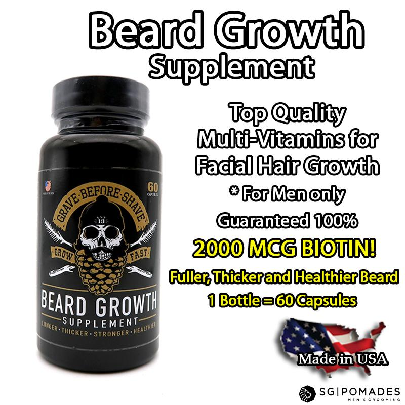 Grave Before Shave Beard Growth Supplement - S'pore Mens Grooming Webstore - SGPomades.com