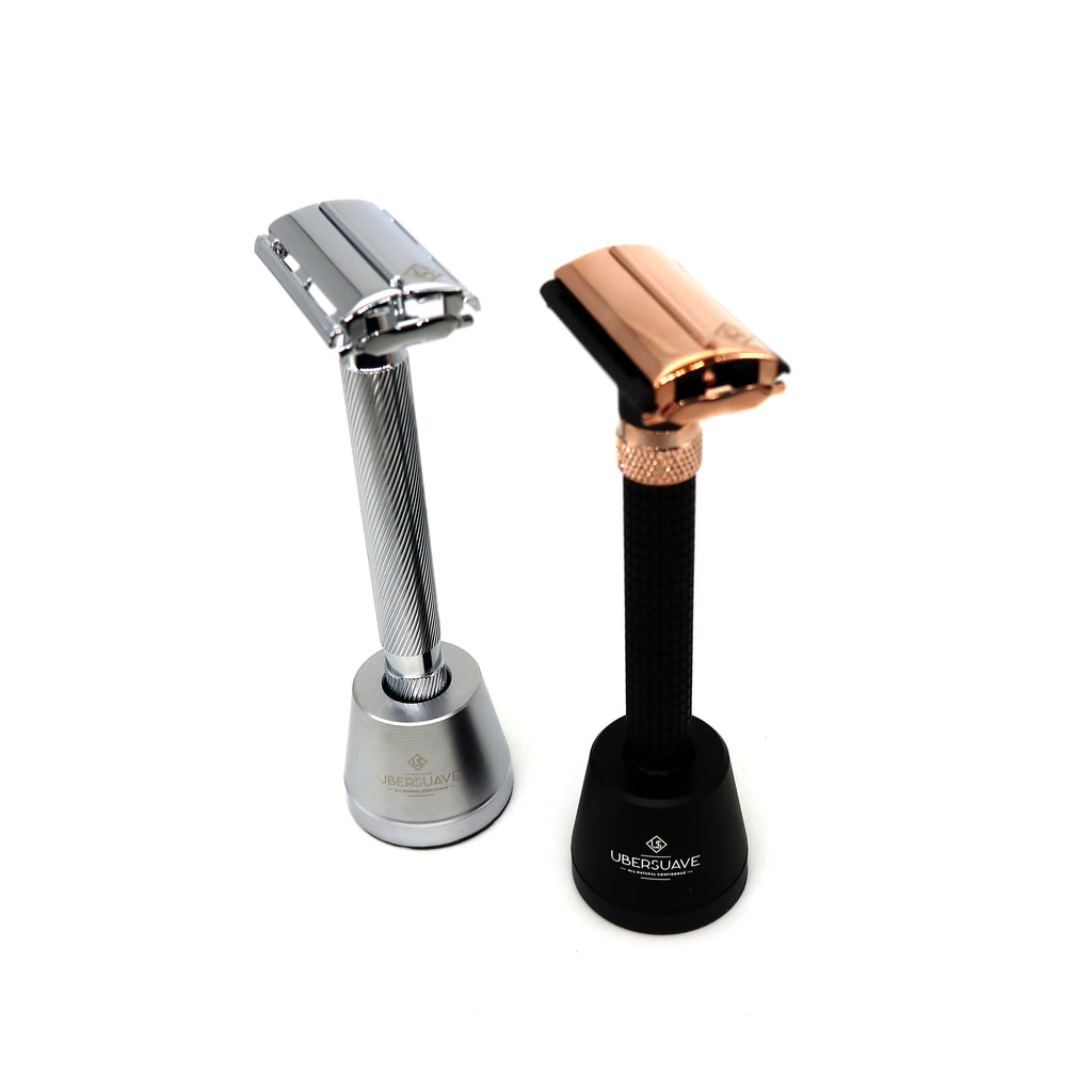 Ubersuave Eco-Razor Island Stand for Safety Razor Matte Black