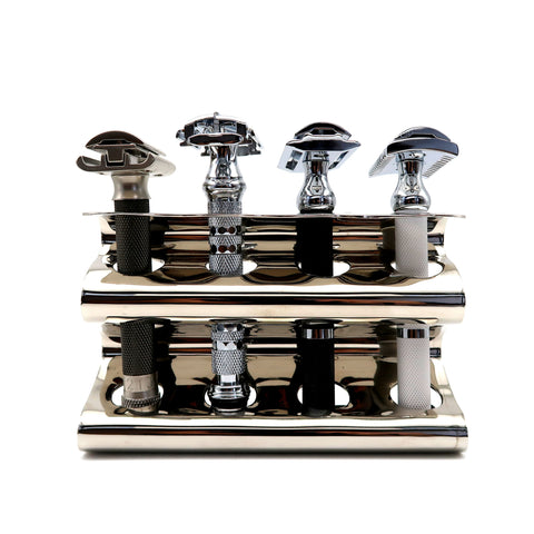 Parker Safety Razor Shaving Caddy Stand -Stainless Steel